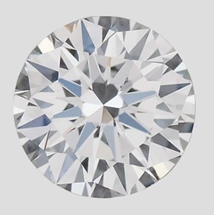 0.39-carat, round brilliant-cut CVD diamond produced by Gemesis - Photo courtesy GIA