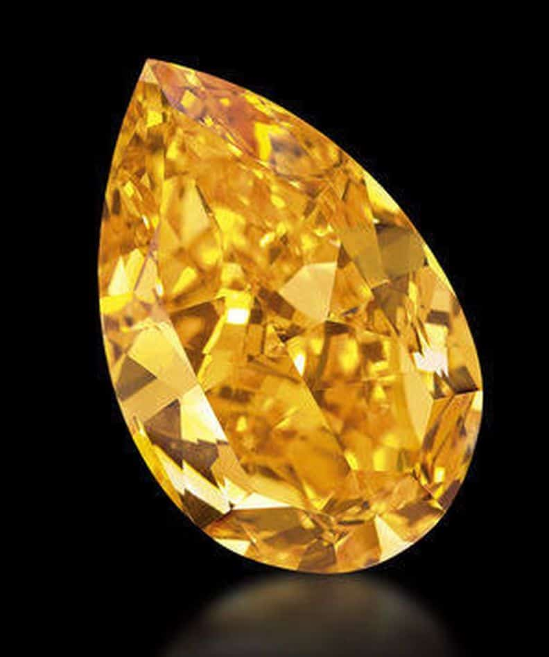 The Orange Diamond that  sold for record-breaking US$ 35,540,612