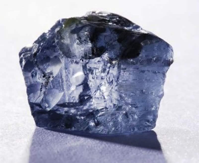 29.6-carat, vivid-blue, rough diamond discovered at Petra Diamonds Cullinan Mine