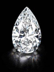 101.73-carat, D-color, Flawless, pear-shaped Winston Legacy diamond
