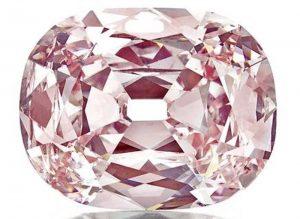 34.65-carat, fancy intense pink, cushion-cut, Princie diamond