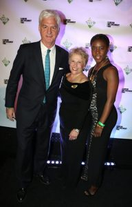 Stephen Lussier, CEO Forevermark with Phyllis Bergman, President DEF and DEF Scholar Nadine Zoro
