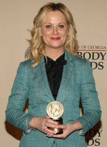 Amy Poehler - Winner of best actress in a TV-series - Musical or Comedy, and popular co-host of the show