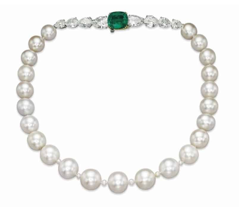 Natural Pearl Necklace that sold for US$ 8,457,945