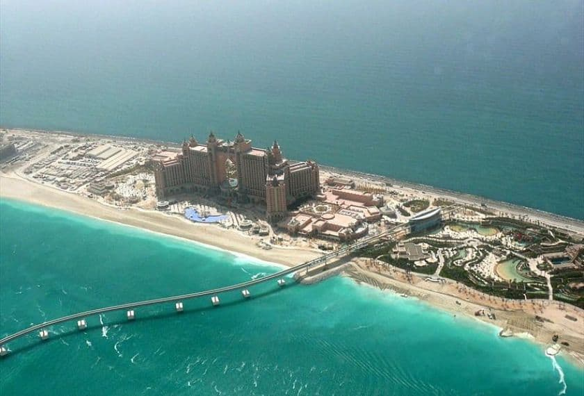 Atlantis the Palm located on the crescent of Palm Jumeirah, Dubai