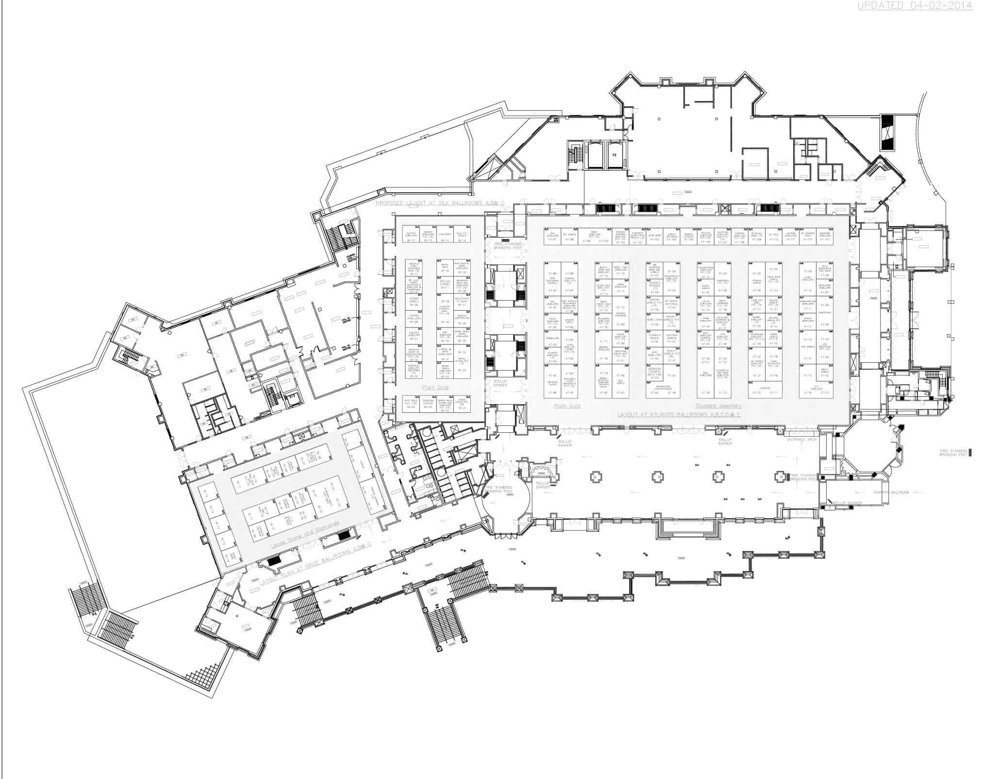 Floor Plan of the Dubai GGJF Site