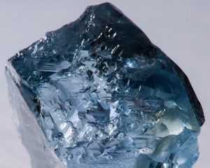 Another view of the 29.6-carat rough blue diamond