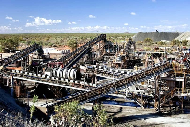 Ellendale diamond mine processing plant