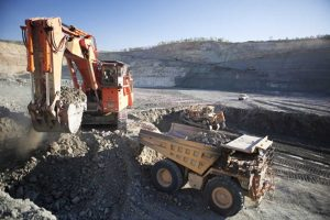 Open-pit mining at Ellendale Mine