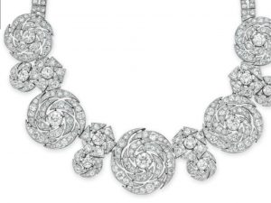 Lot 230-An Elegant Diamond Necklace by Cartier