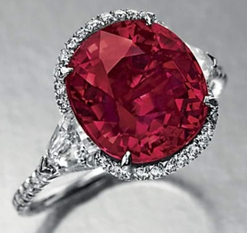 Lot 129-A Superb Ruby and Diamond Ring