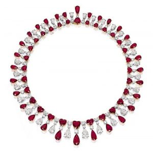 Lot 1914 - A Superb Ruby and Diamond Necklace by James Currens