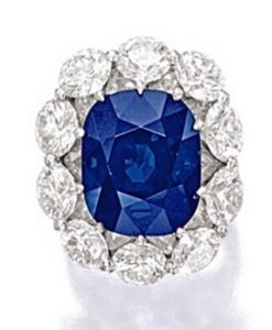 Lot 1760-An Exceptional Sapphire and Diamond Ring