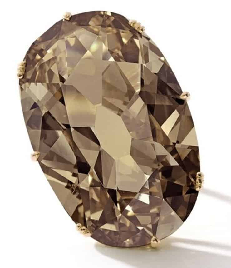 Lot 1741-Unique Fancy Brown Yellow Diamond Ring