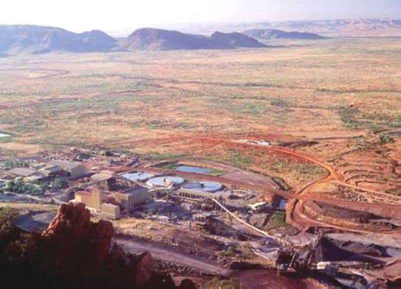 Aerial View of Rio Tinto's Kimberlite Processing Plant at Argyle