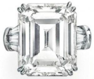 Lot 249 - Harry Winston ring incorporating a rectangular-cut, D-color, 20.1-carat diamond