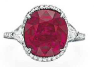 Lot 129 - Superb Ruby and Diamond Ring