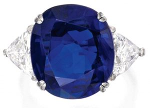 Lot 408 - Platinum, Burmese Sapphire and Diamond Ring
