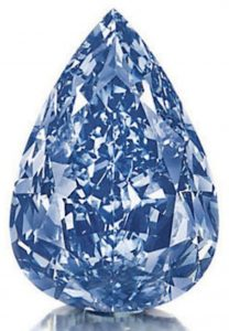 Lot 260 - 13.22-carat, pear-shaped, flawless, fancy vivid blue - THE BLUE DIAMOND