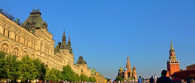 The Red Square, Kremlin,  St. Basil's Church and Lenin Mausoleum