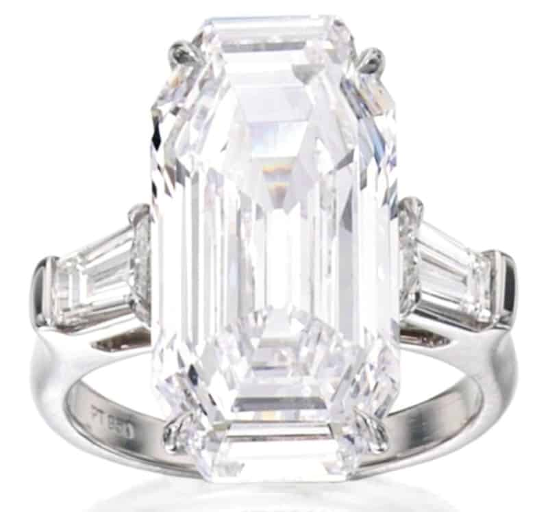 Lot 409 - Fine Platinum and Diamond Ring