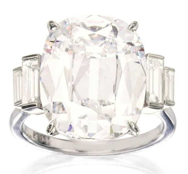 Lot 447 - Important Platinum and Diamond Ring