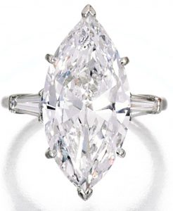 Lot 433 - Platinum and Diamond Ring from Eydie Gorme Collection