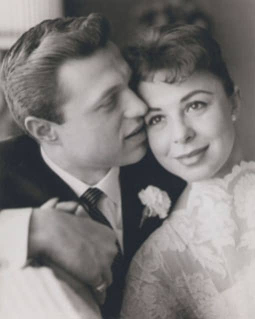Steve Lawrence and Eydie Gorme on their wedding day in 1957