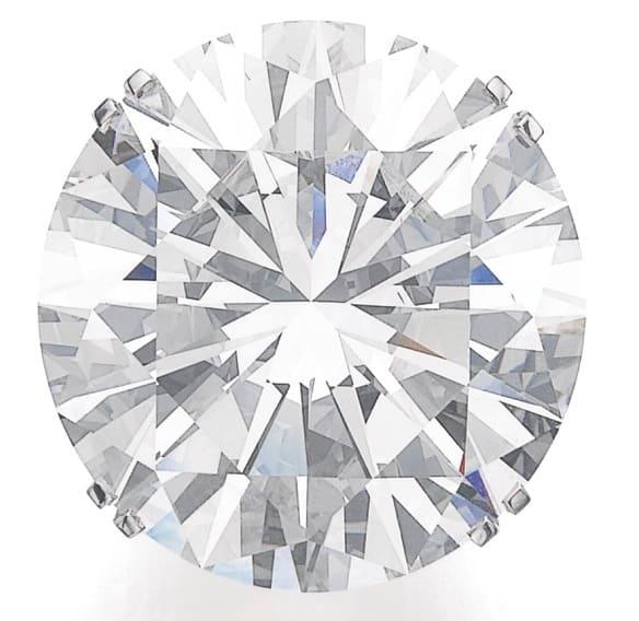 Lot 506- 103.46-carat, round brilliant-cut, N-color, SI1-clarity diamond