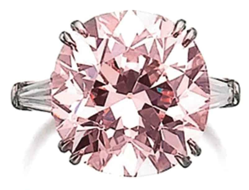 Lot 525 - 10.11-carat, round brilliant-cut, VS2-clarity, fancy light pink diamond