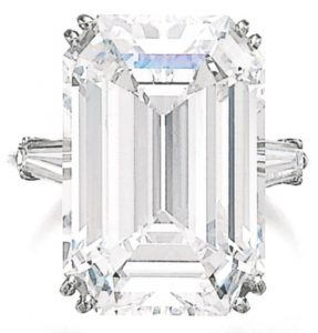 Lot 493 - 17.25-carat, D-color, VVS1-clarity, step-cut diamond