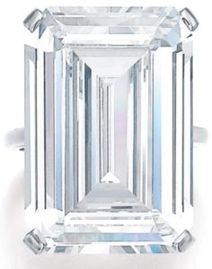 Lot 496 - 30.01-carat, H-color, internally flawless, step-cut diamond ring