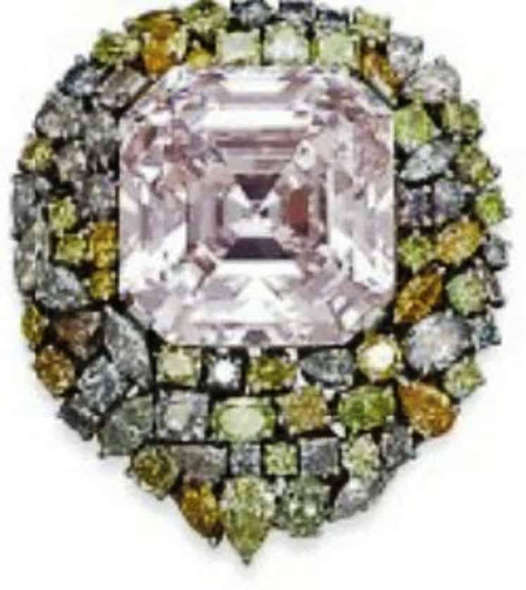 Lot 245 -76.51-carat, cut-cornered square-cut, VVS1-clarity, light pink diamond