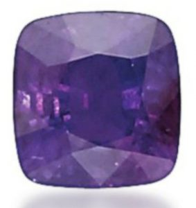 Lot 224 - 21.41-carat, cushion-cut, Russian alexandrite, when exposed to incandescent light