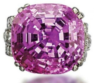 Lot 186 - 49.04-carat, cushion-cut, Ceylon pink sapphire