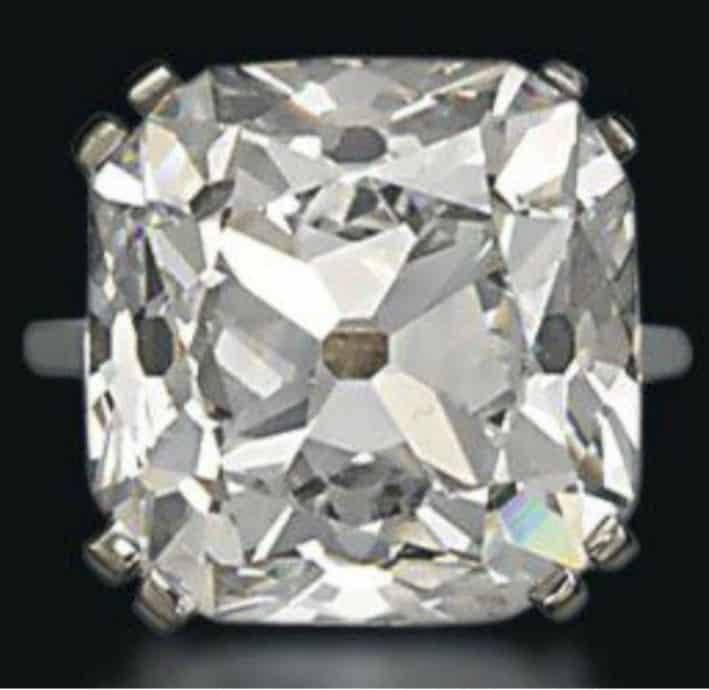 Lot 258- 26.14-carat, old-mine brilliant-cut, D-color, VS2-Clarity Rajah Diamond