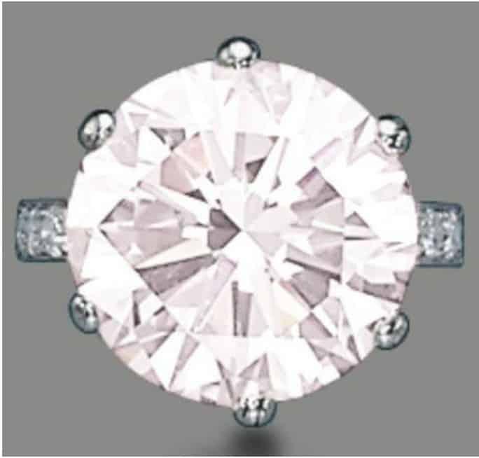 Lot 182 - 11.11-carat, round brilliant-cut, VVS1-clarity, fancy light pink diamond