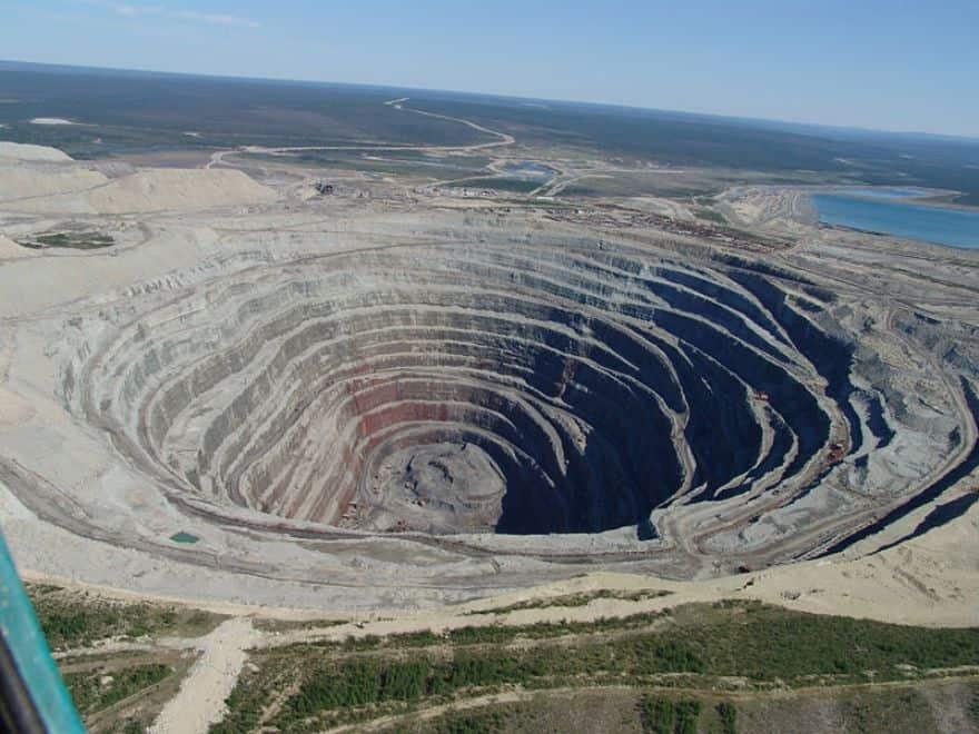 Udachnaya open-pit mine