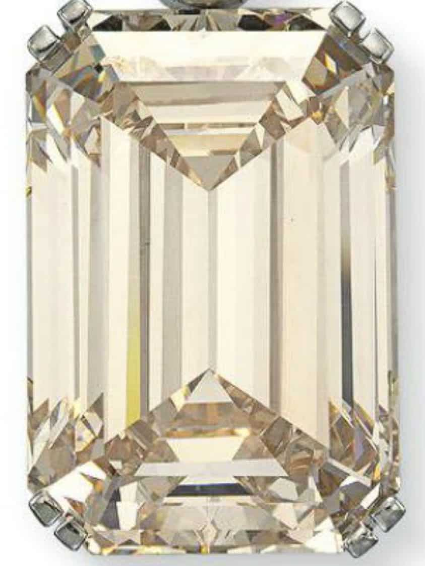 81.38-carat, rectangular-cut, K-color, VVS1-clarity diamond