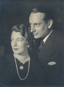 Grand Duchess Kira Kirillovna of Russia wearing the English Rose  Pendant, with her husband Louis Ferdinand, Prince of Prussia