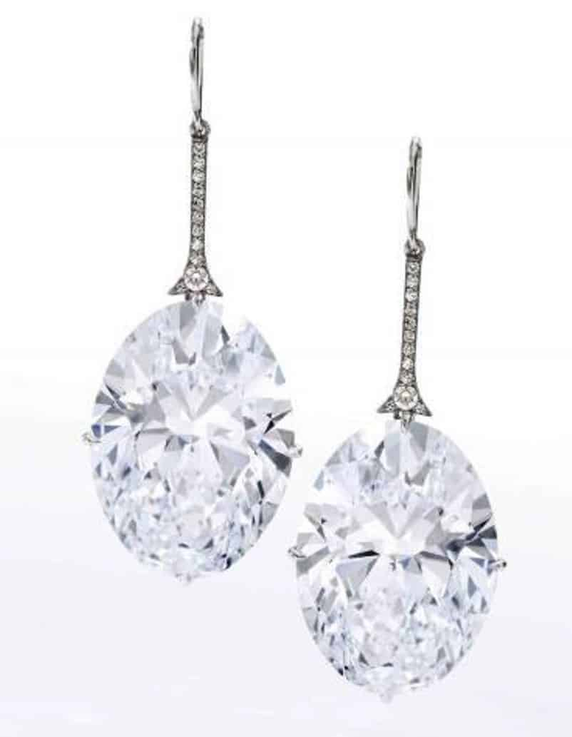 Lot 428 -  A Pair of Magnificent Diamond Earrings