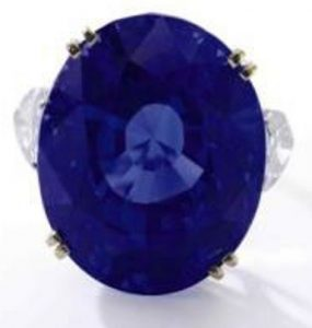 Lot 421 - Important Sapphire and Diamond Ring by  Van Cleef & Arpels