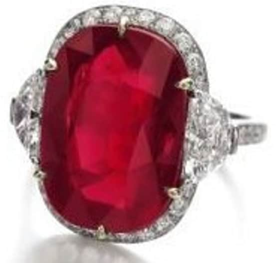 Lot 426 - Important Ruby  and Diamond Ring