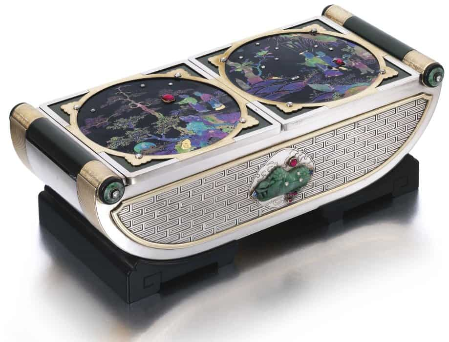 Lot 448 - Gem-set and Diamond Box by Cartier designed  in 1926