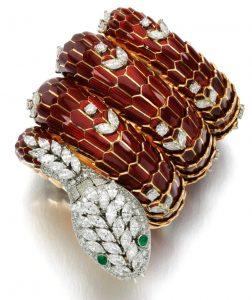 Lot 367 - Important Gold, Gem-Set, and Diamond Bracelet-Watch by Bulgari, circa 1960