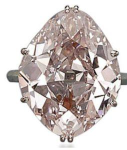 Lot 311- 15.62-carat, fancy-pink, VS1-clarity, kite brilliant-cut diamond ring