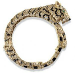 Lot 327 - Cartier Tiger Bracelet