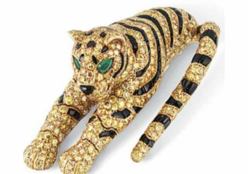 Lot 327 -- Cartier Tiger Brooch