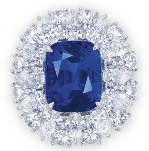 Lot 2063A - A Rare Sapphire and Diamond Ring