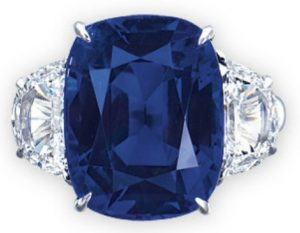 Lot 2063 - An Important Sapphire  and Diamond Ring